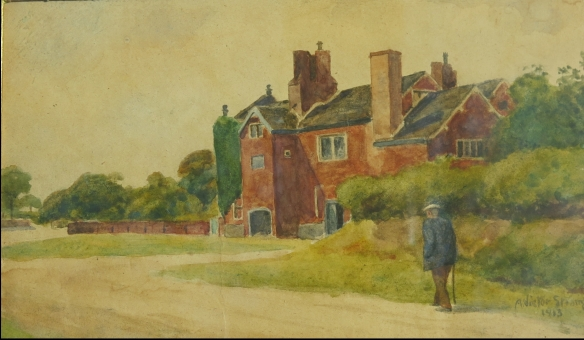 A. Victor Strange, Hough End Hall from the South, 1913.