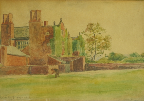 A. Victor Strange, Mauldeth House from the North, 1914.
